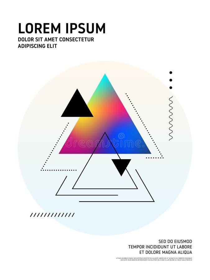 Fondo geométrico de la forma de la pendiente colorida moderna abstracta stock de ilustración