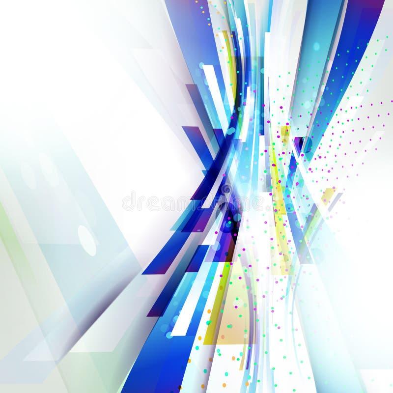 Fondo geométrico de la onda vertical abstracta brillante para la presentación de la tecnología libre illustration
