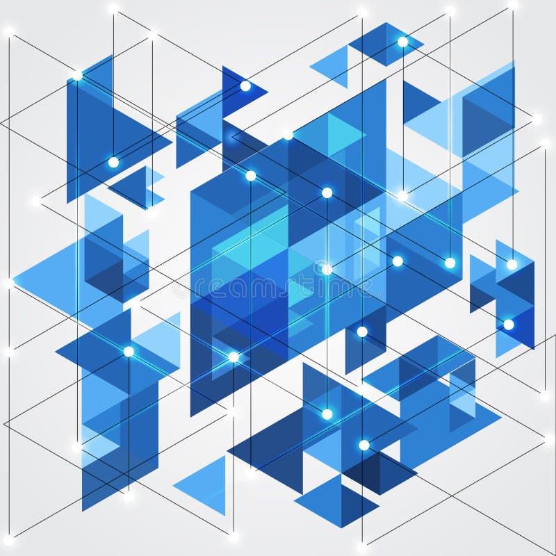 Fondo geométrico de la tecnología azul abstracta, ejemplo del vector libre illustration