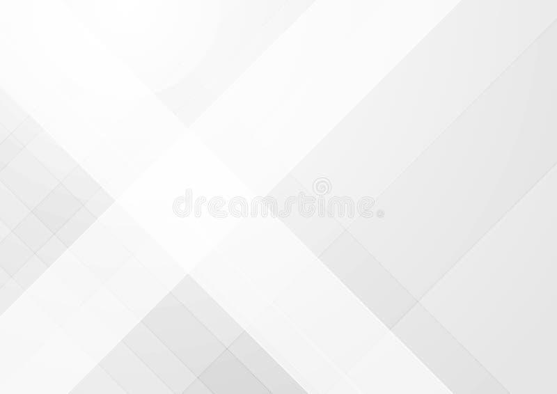Fondo geométrico de la tecnología gris clara abstracta libre illustration