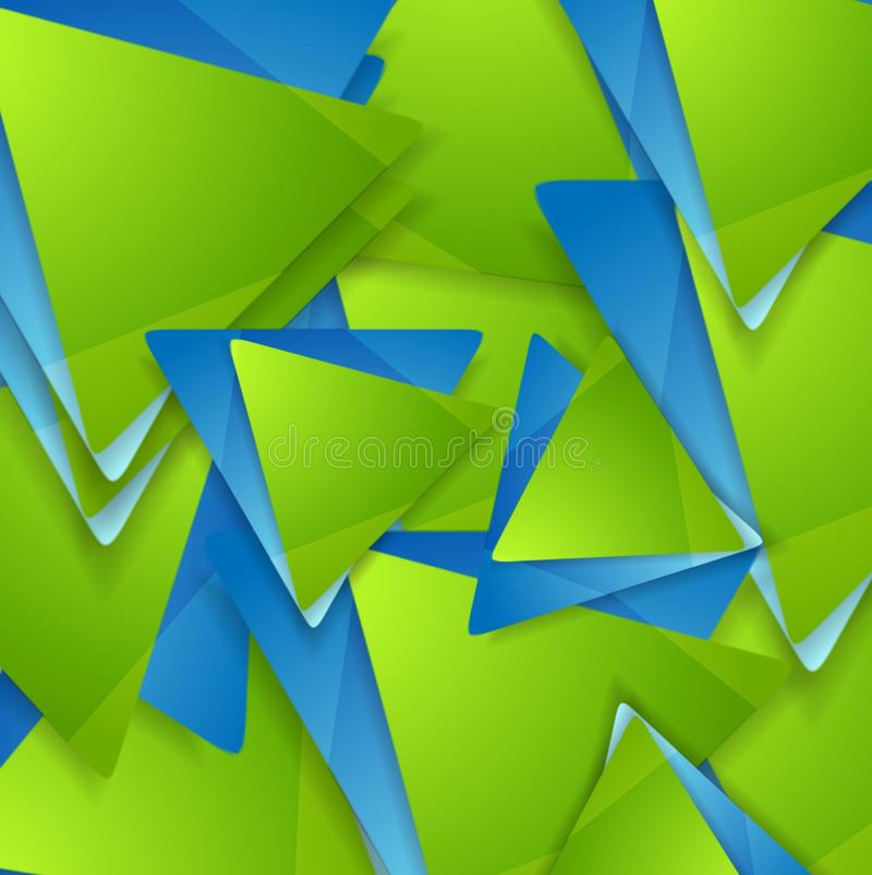 Fondo geométrico de la tecnología Modelo de los triángulos libre illustration