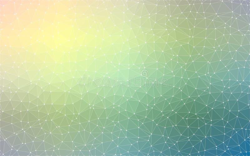 fondo geométrico de la textura del triángulo poligonal del color 3D ilustración del vector