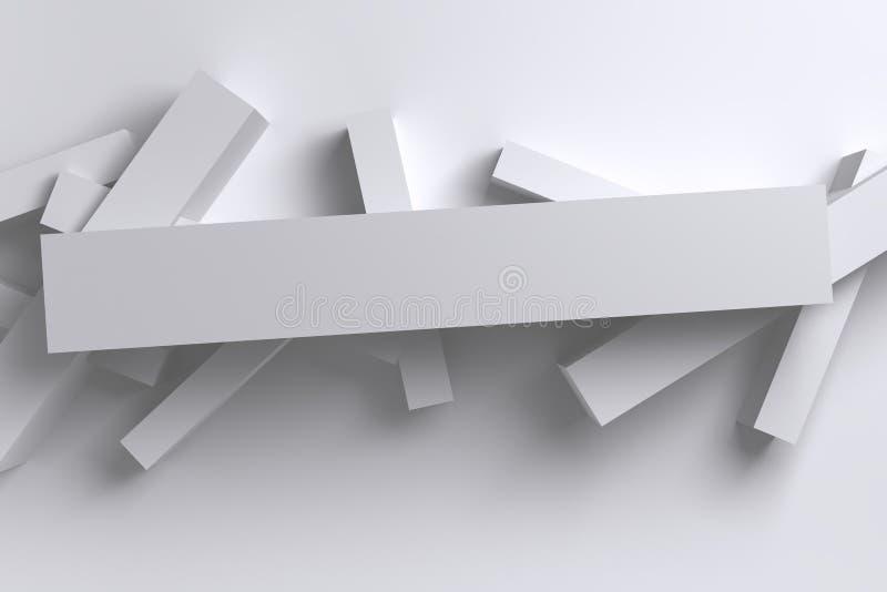 Fondo geométrico de las cajas del polígono bajo brillante abstracto del blanco 3D libre illustration