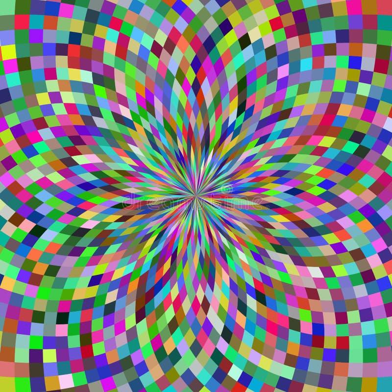 Fondo geométrico de las ilusiones stock de ilustración