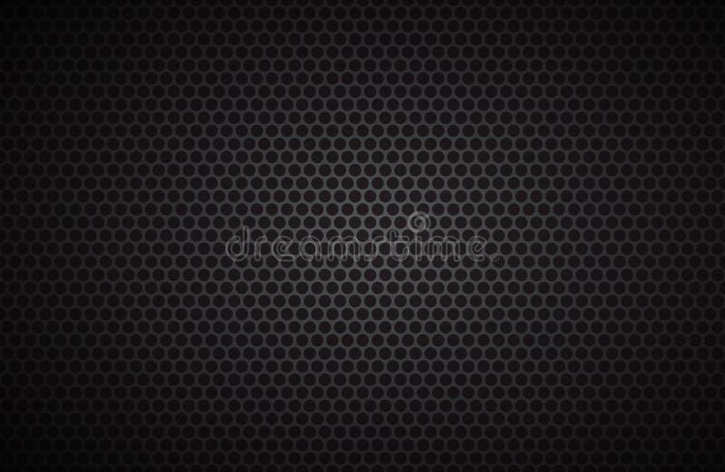 Fondo geométrico de los polígonos, papel pintado metálico negro abstracto stock de ilustración