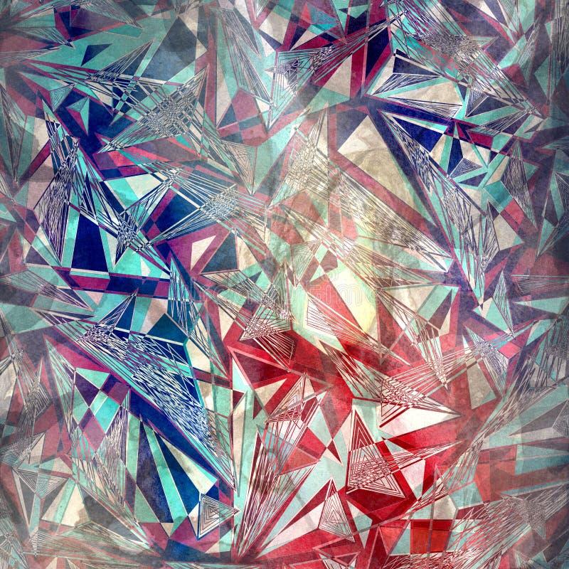 Fondo geométrico de los triángulos de la acuarela abstracta libre illustration