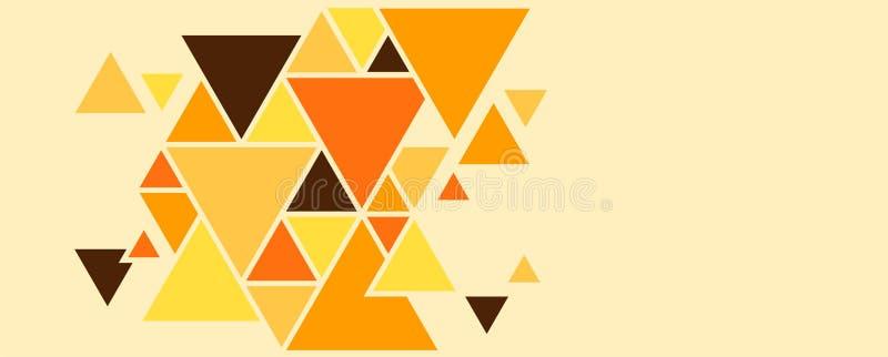 Fondo geométrico de los triángulos, formas coloreadas brillantes para crear una imagen abstracta ilustración del vector