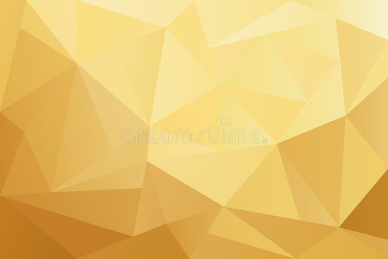 Fondo geométrico de oro del polígono de las formas libre illustration