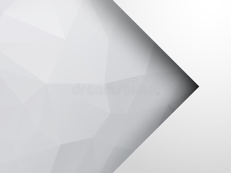 Fondo geométrico de plata abstracto con la flecha ilustración del vector
