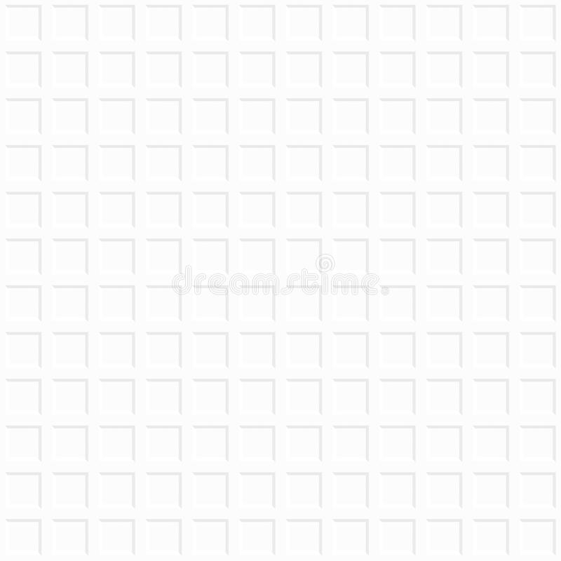 Fondo geométrico decorativo blanco Modelo inconsútil libre illustration