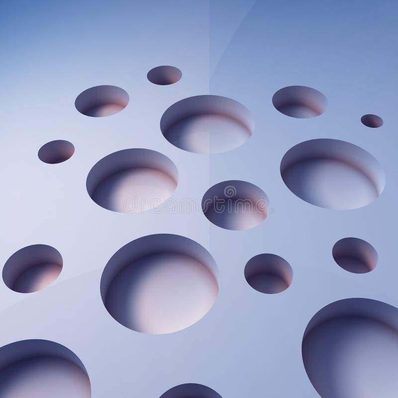 Fondo geométrico del azul 3D stock de ilustración