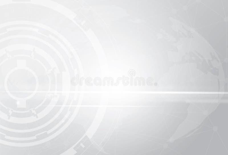 Fondo geométrico del diseño corporativo de la tecnología gris abstracta EPS10 gris libre illustration