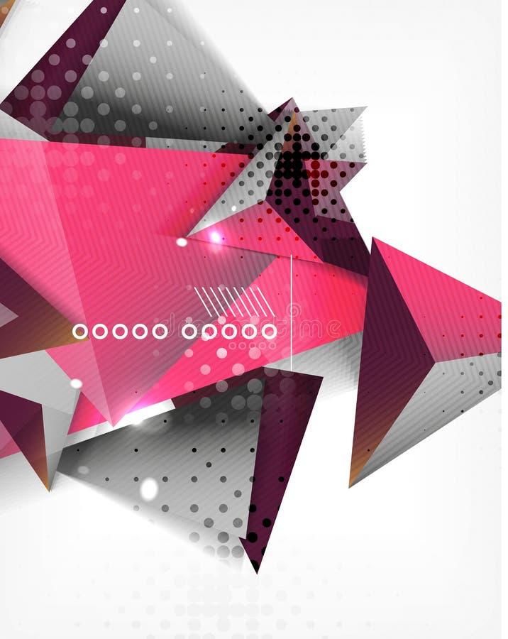 Fondo geométrico del extracto del triángulo de la forma ilustración del vector