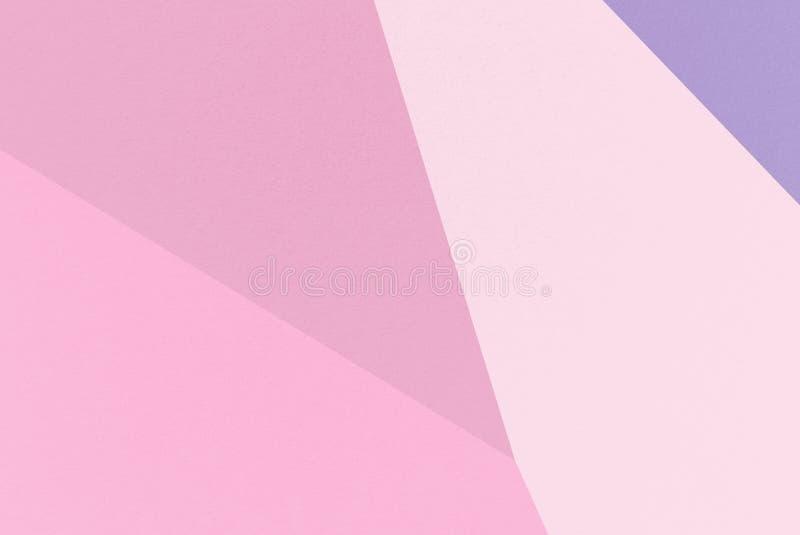 Fondo geométrico del extracto del rosa con Cameo Pink, lavanda oscura, Pale Red-Violet, colores del ciclamen, textura del papel d stock de ilustración