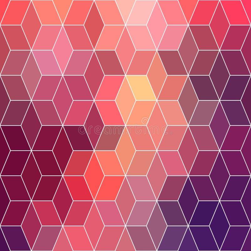 Fondo geométrico del inconformista hecho de cubos Color retro m del inconformista libre illustration