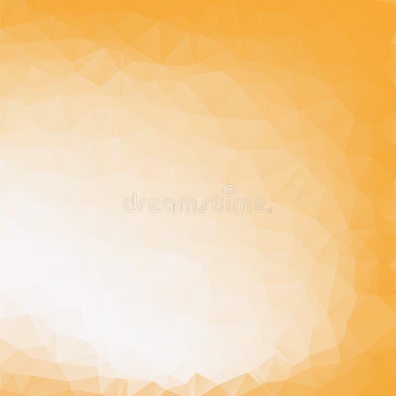 Fondo geométrico del oro abstracto polígono EPS10 Ilustración del vector libre illustration