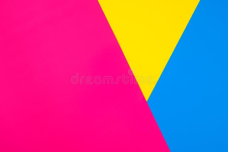 Fondo geométrico del papel abstracto del color imagen de archivo