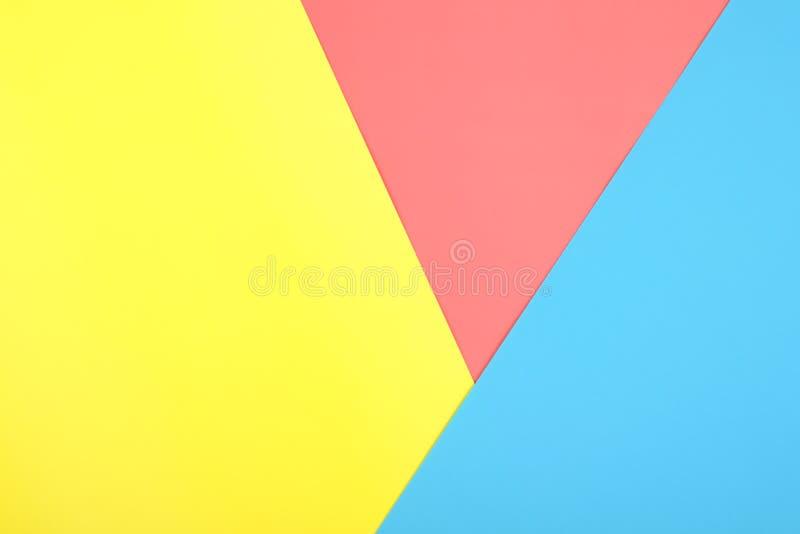 Fondo geométrico del papel abstracto del color imágenes de archivo libres de regalías
