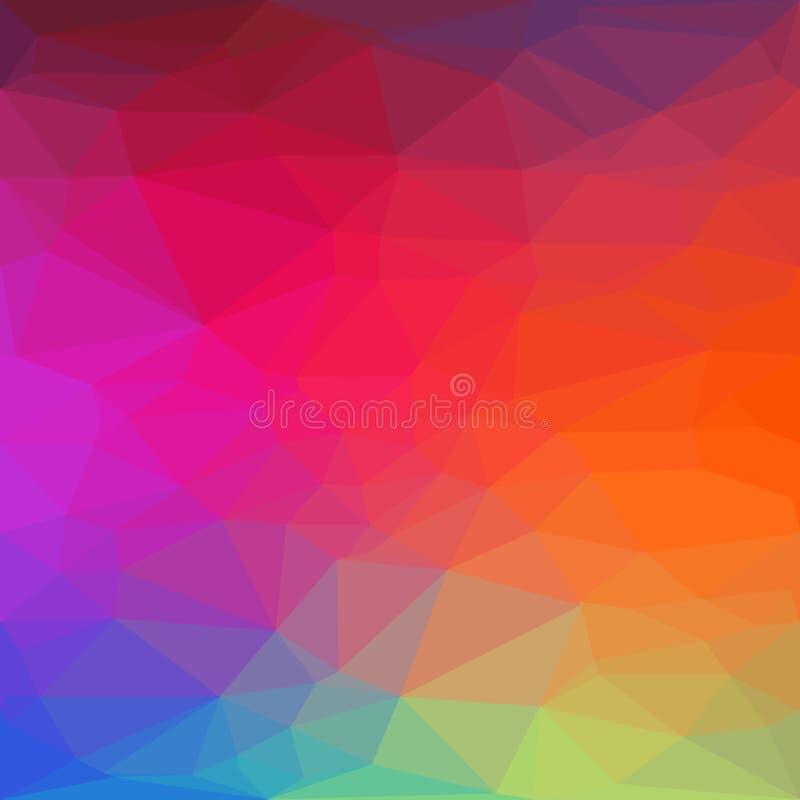 Fondo geométrico del polígono abstracto libre illustration