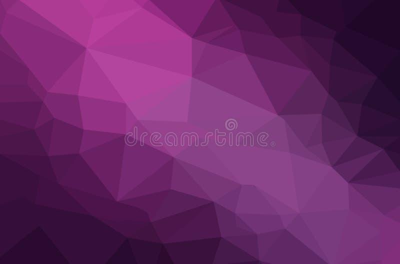 Fondo geométrico del polígono abstracto stock de ilustración