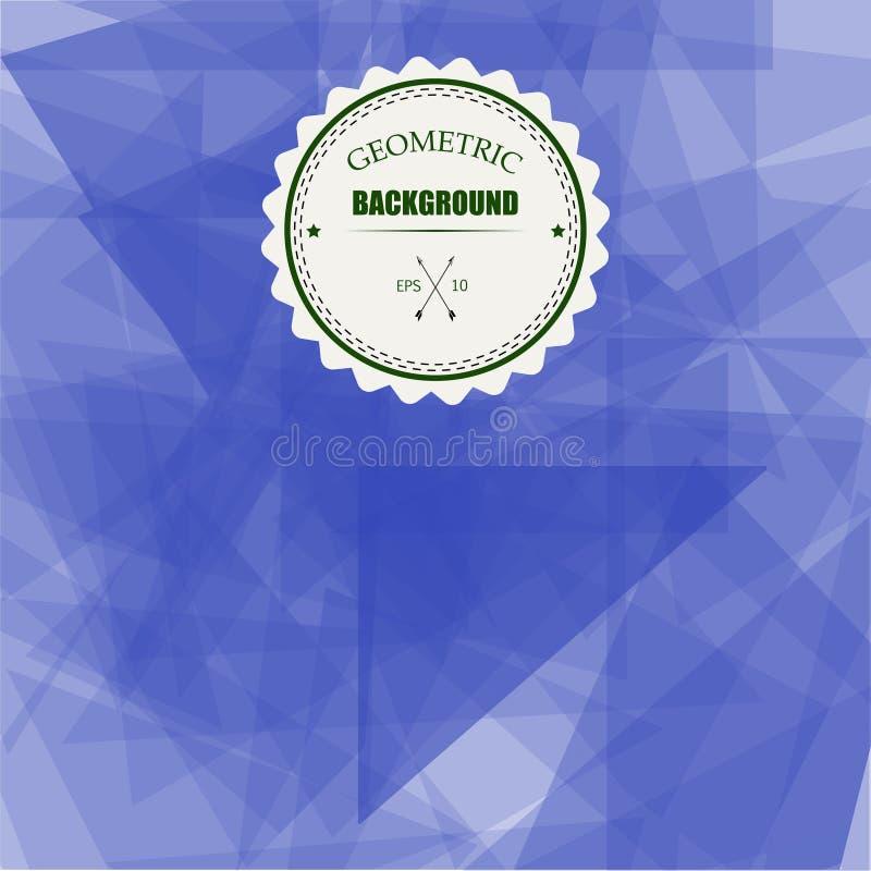Fondo geométrico del triángulo abstracto, ejemplo EPS10 del vector stock de ilustración