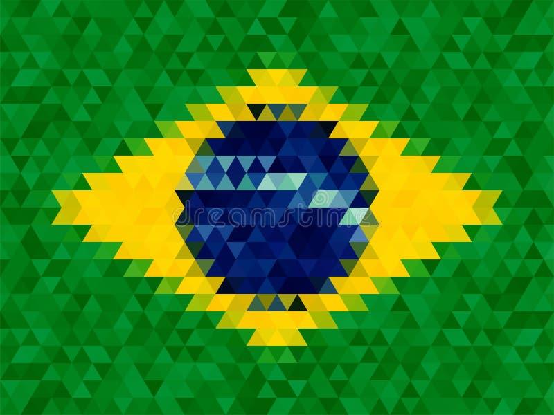 Fondo geométrico del triángulo, concepto de la bandera del Brasil libre illustration