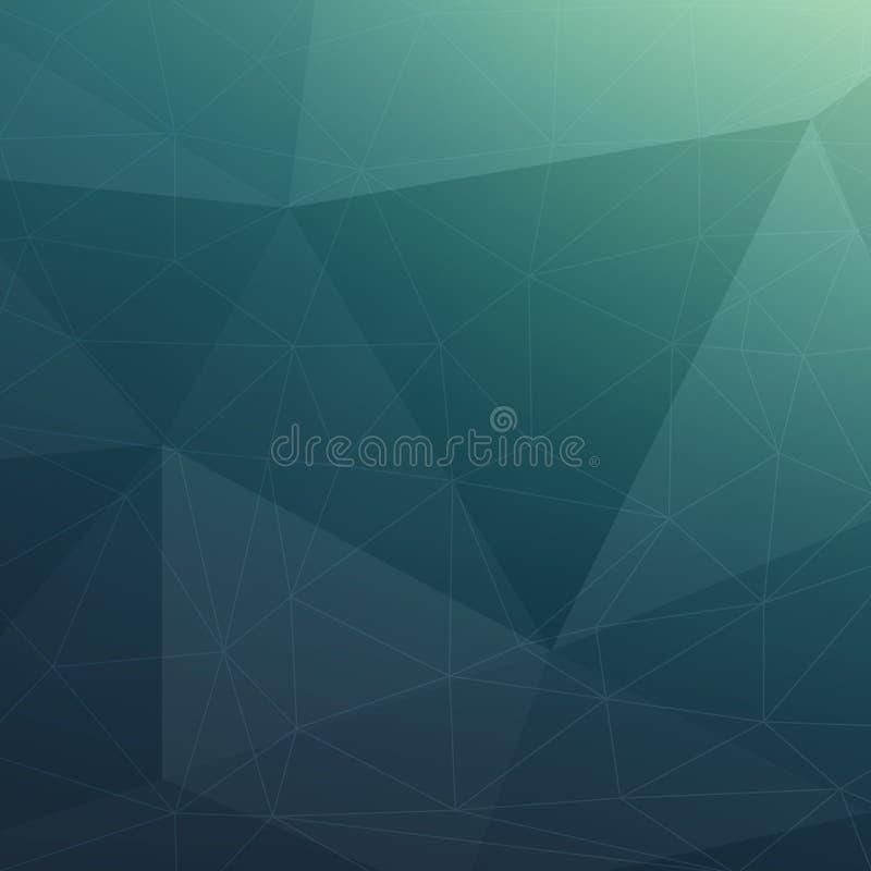 Fondo geométrico del triángulo moderno stock de ilustración