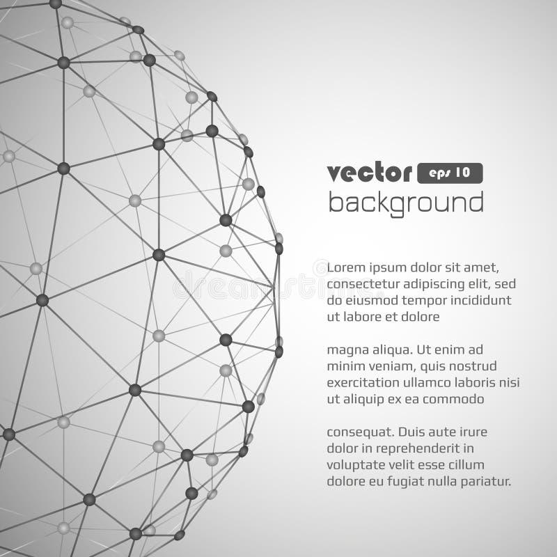 Fondo geométrico del vector stock de ilustración