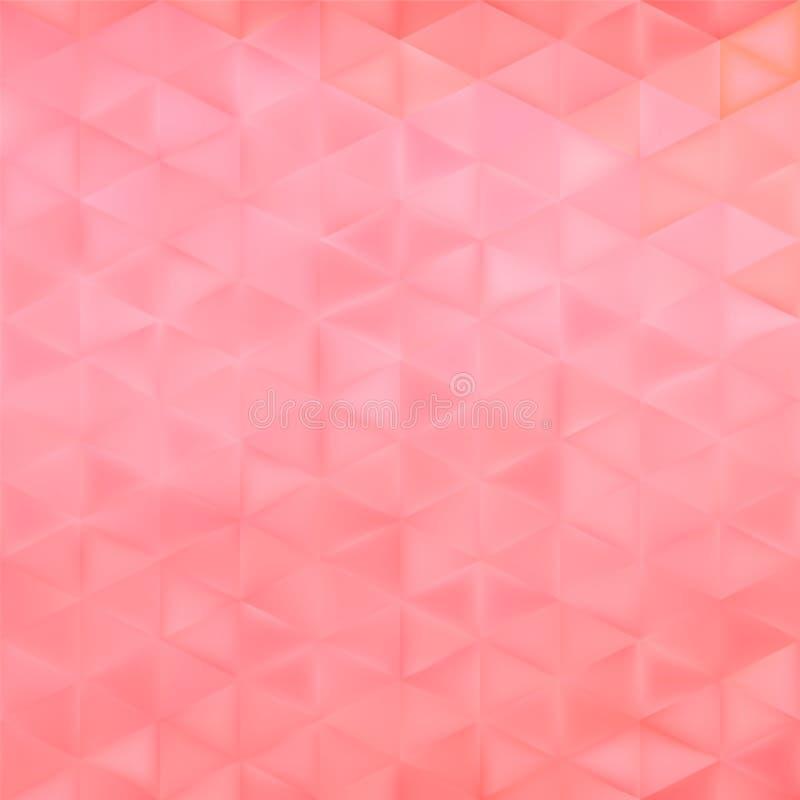 Fondo geométrico del vector abstracto - triángulos rosados ilustración del vector