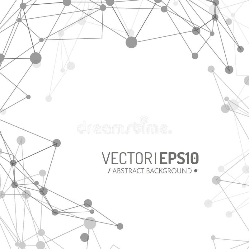 fondo geométrico del vector 3d para la presentación del negocio o de la ciencia ilustración del vector