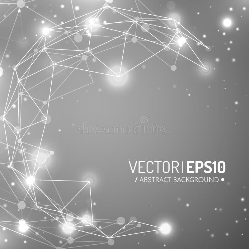 fondo geométrico del vector 3d para la presentación del negocio o de la ciencia stock de ilustración