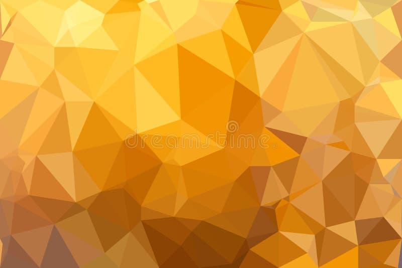 Fondo Geométrico: Fondo Geométrico Del Vector Del Amarillo Anaranjado