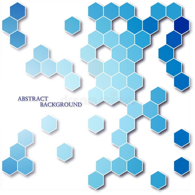 Fondo geométrico del vector del extracto del hexágono ilustración del vector