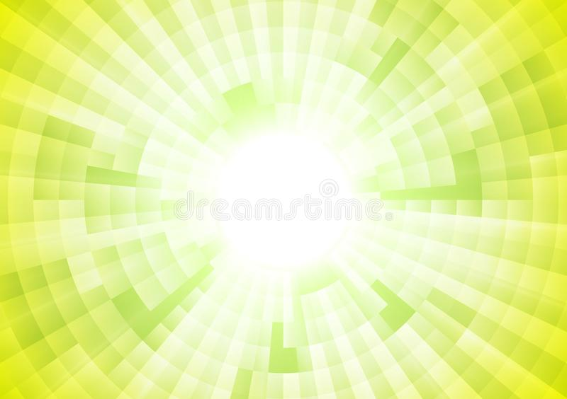 Fondo geométrico del vector verde claro de la tecnología stock de ilustración
