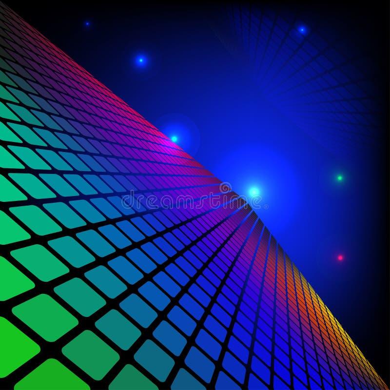 Fondo geométrico Eps10 de la tecnología del espacio. ilustración del vector