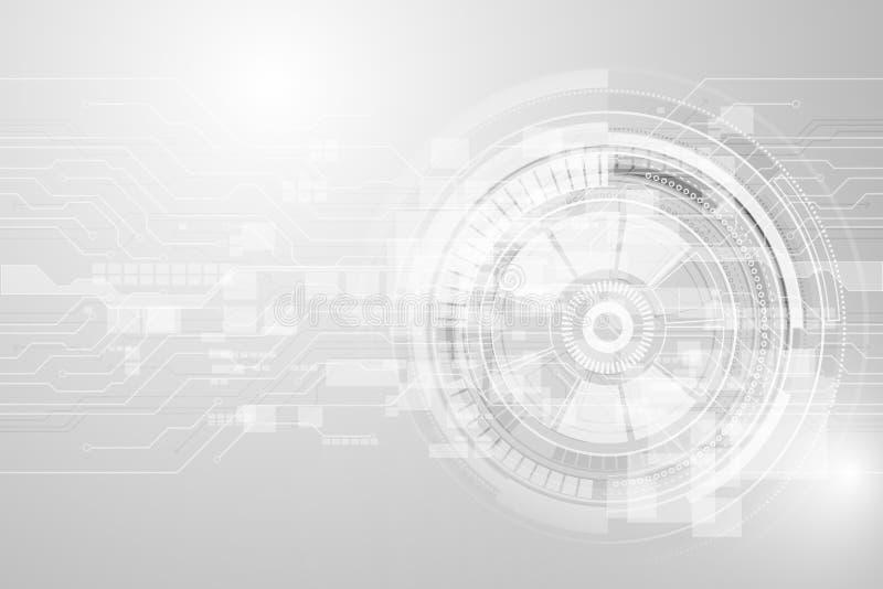 Fondo geométrico gris de la tecnología con forma del engranaje ABS del vector ilustración del vector