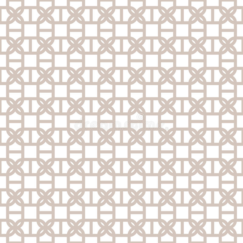 Fondo geométrico inconsútil decorativo del modelo del vector ilustración del vector