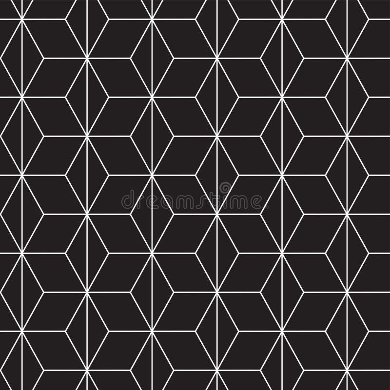 Fondo geométrico inconsútil del modelo de Art Deco ilustración del vector