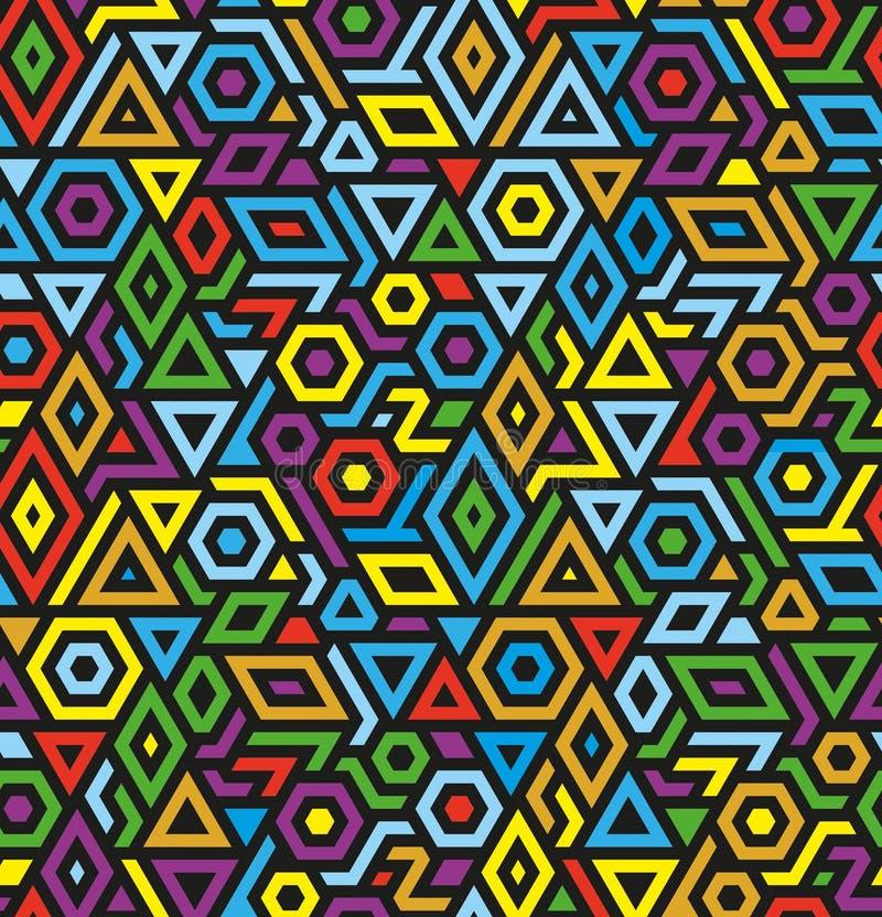 Fondo geométrico inconsútil del modelo del vector libre illustration