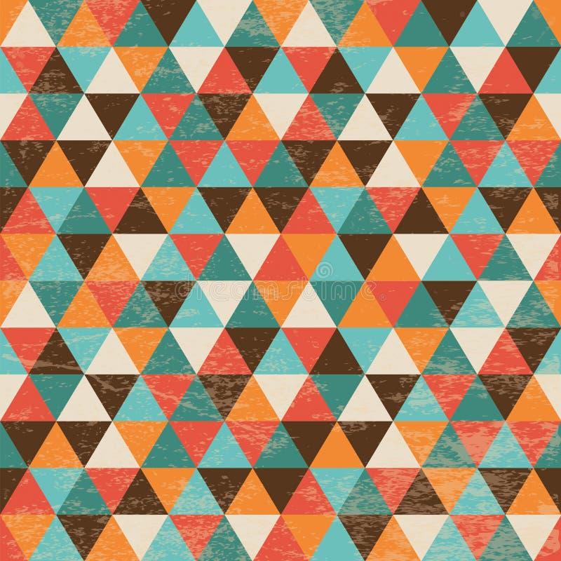 Fondo geométrico inconsútil del triángulo stock de ilustración