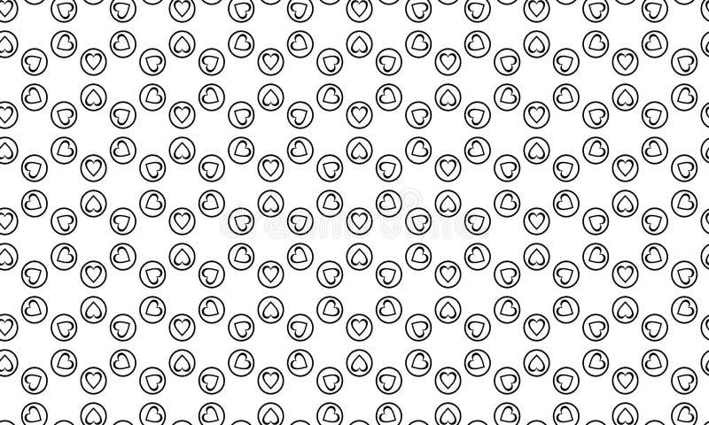 Fondo geométrico inconsútil del vector, fondo blanco y negro simple del modelo del vector de las rayas, exacto, editable y útil p libre illustration