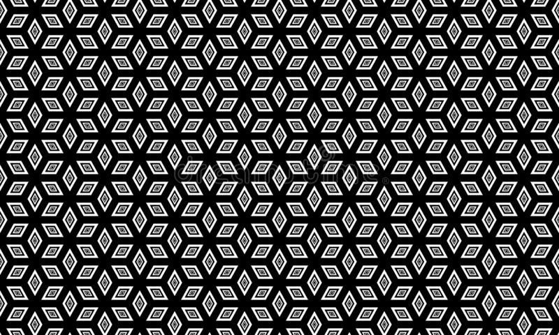 Fondo geométrico inconsútil del vector, fondo blanco y negro simple del modelo del vector de las rayas, exacto, editable y útil p ilustración del vector