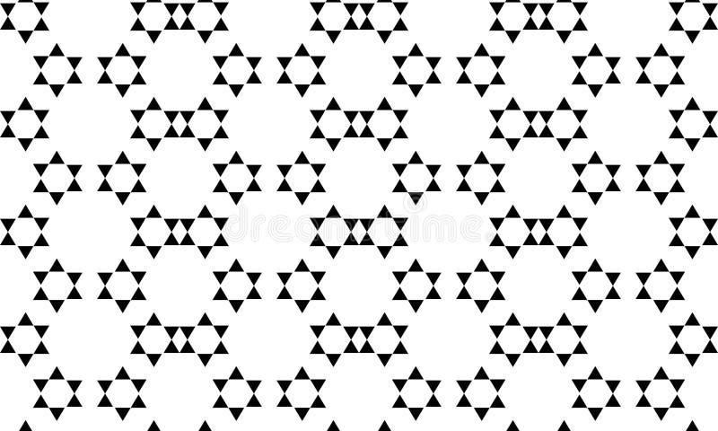 Fondo geométrico inconsútil del vector, fondo blanco y negro simple del modelo del vector de las rayas, exacto, editable y útil p stock de ilustración