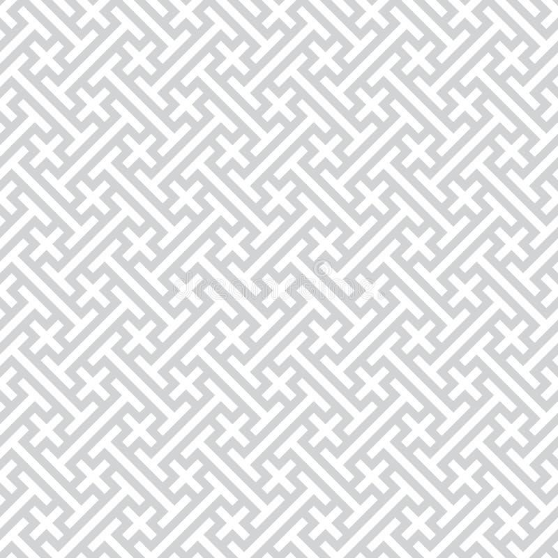 Fondo geométrico inconsútil gris del vector ilustración del vector