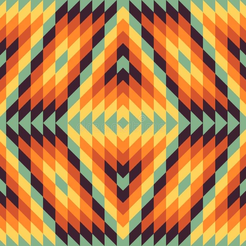 Fondo geométrico inconsútil mosaico stock de ilustración