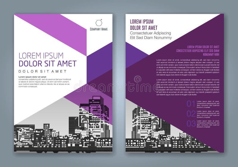 Fondo geométrico mínimo abstracto del diseño del polígono de las formas para el cartel del aviador del folleto de la cubierta de  ilustración del vector