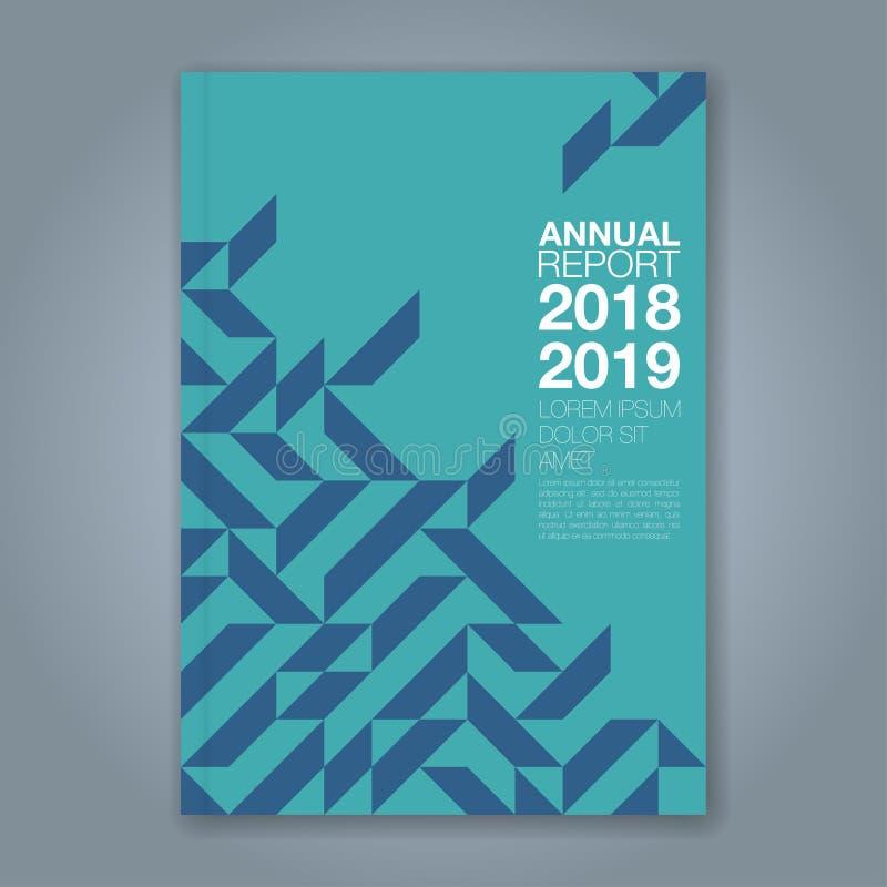 Fondo geométrico mínimo abstracto del diseño del polígono de las formas para el cartel del aviador del folleto de la cubierta de  libre illustration