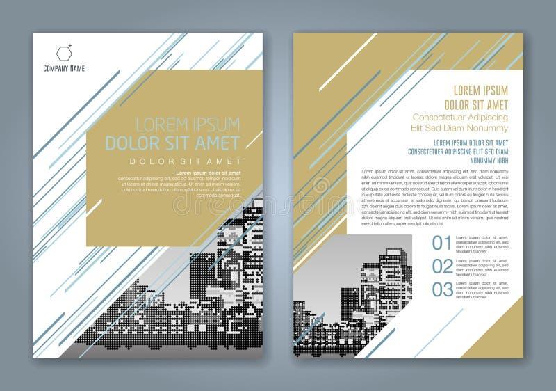 Fondo geométrico mínimo abstracto del diseño del polígono de las formas para el cartel del aviador del folleto de la cubierta de  stock de ilustración