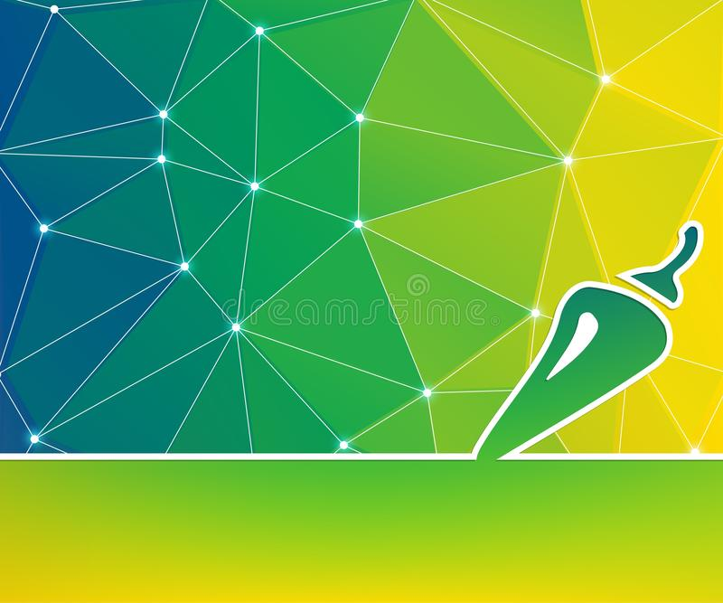 Fondo geométrico mínimo de color Diseño abstracto de material creativo Para web, móvil, aplicación, plantilla moderna, stock de ilustración