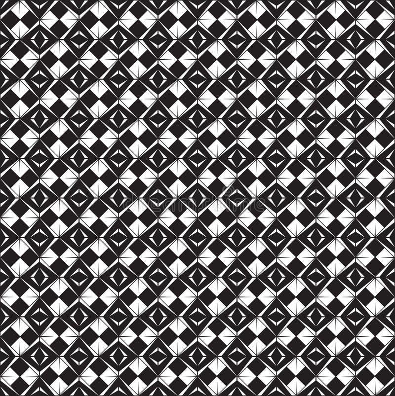 Fondo geométrico monocromático inconsútil abstracto de los modelos; Repetición de las tejas de la textura; diseño del vector ilustración del vector